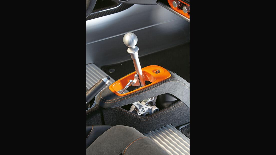 Lotus Exige Sport 380 Roadster, Schalthebel