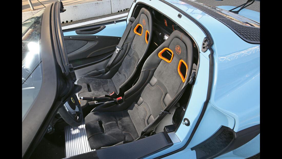 Lotus Exige Sport 380 Roadster, Sitze