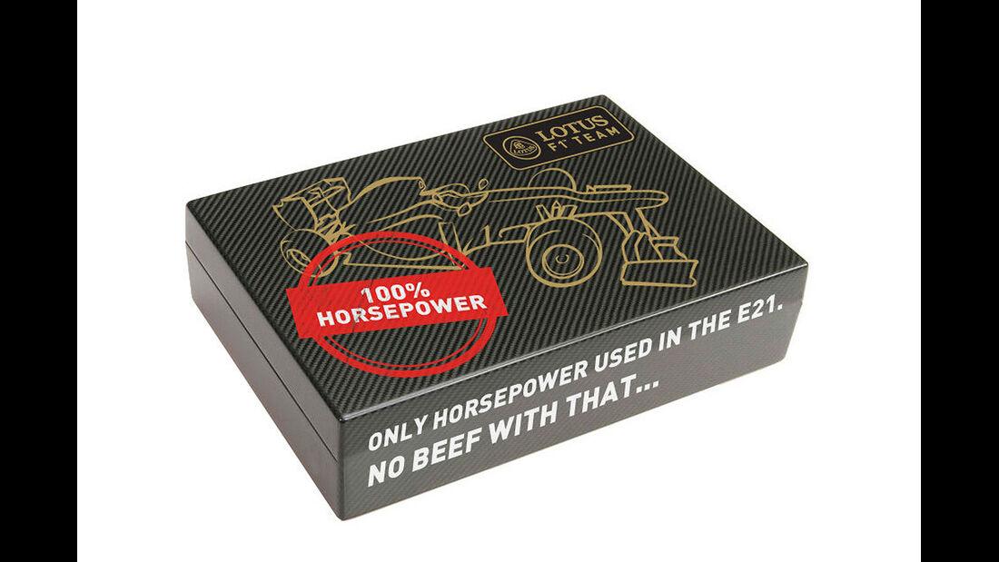 Lotus F1 100 Prozent Horsepower no beef