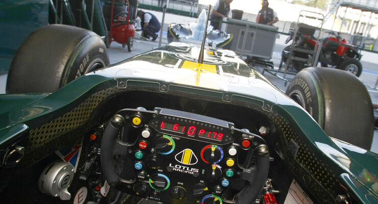 Lotus F1-Cockpit