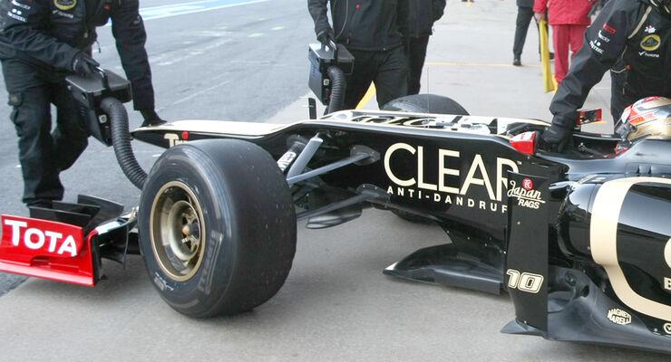 Lotus F1 E20 2012 - Vorderradaufhängung