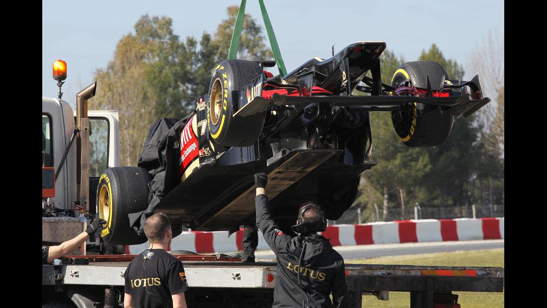 Lotus F1 Test Barcelona 2013