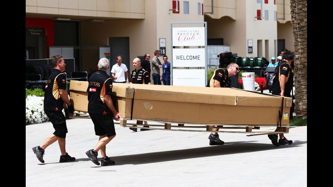 Lotus - Formel 1 - GP Bahrain - Sakhir - 4. April 2014