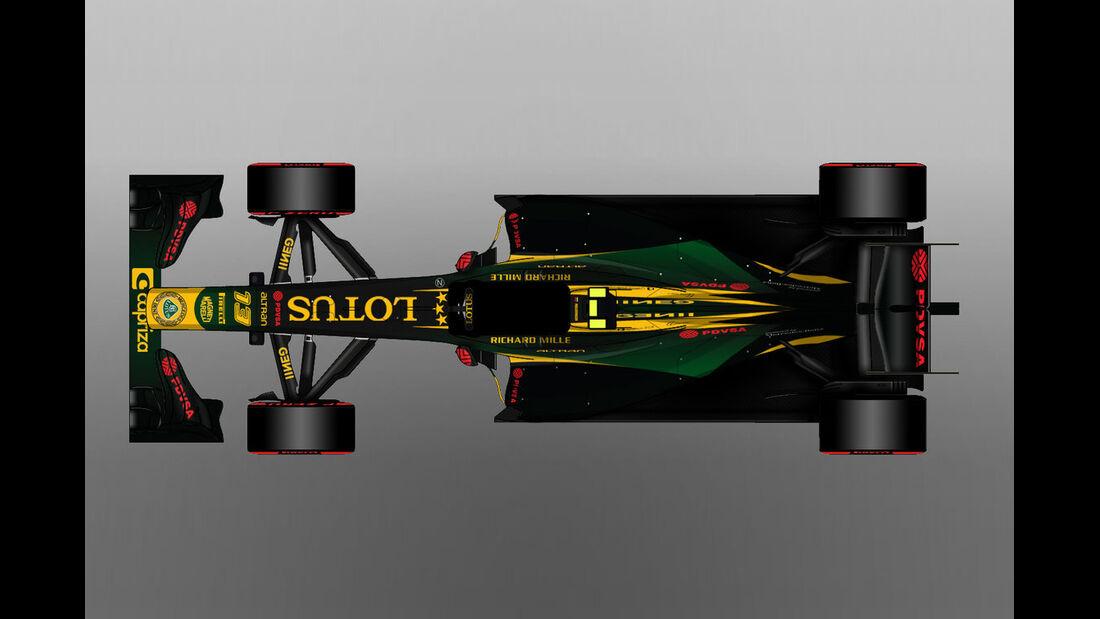 Lotus - Formel 1 - Lackierung - Design-Concept
