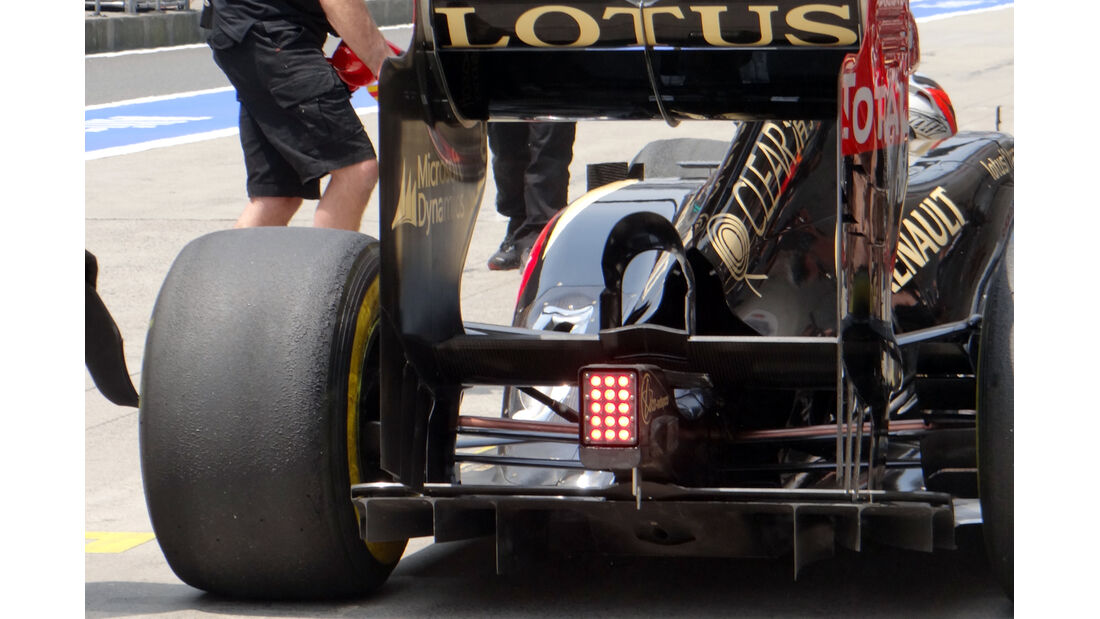 Lotus Heck - Formel 1 - GP China - 12. April 2013