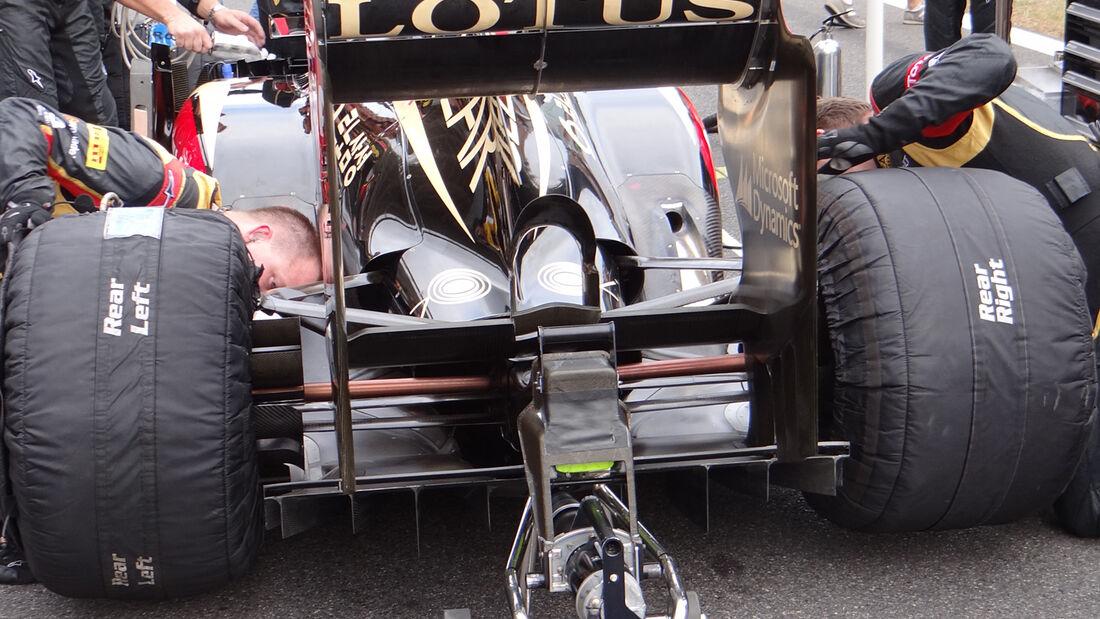 Lotus Heizdecken - GP Korea 2013
