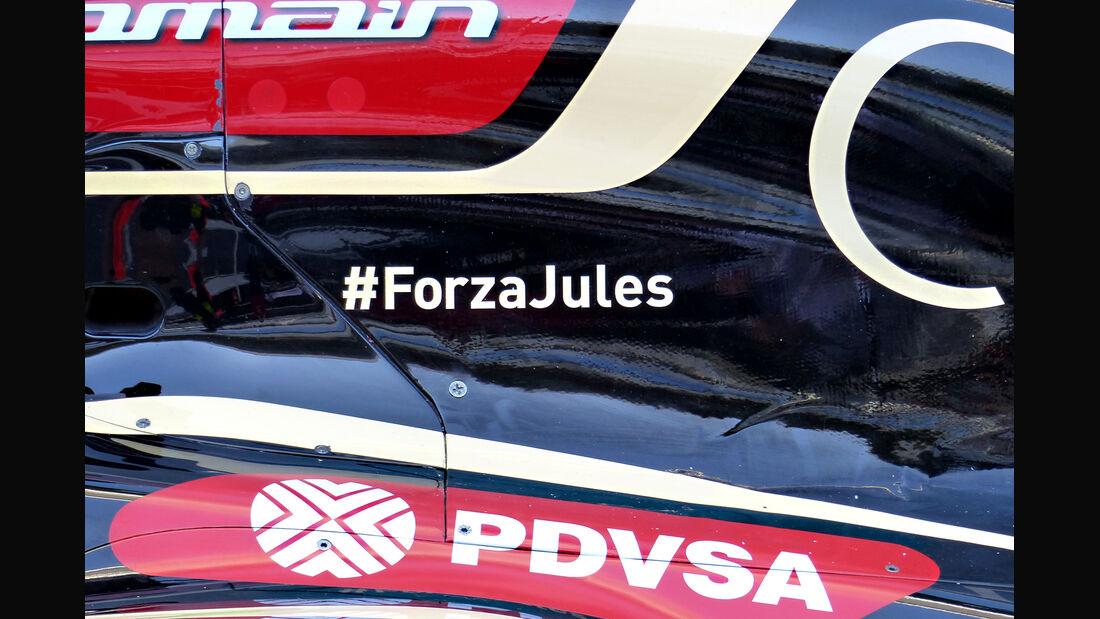 Lotus - Jules Bianchi-Tribute - GP Russland 2014