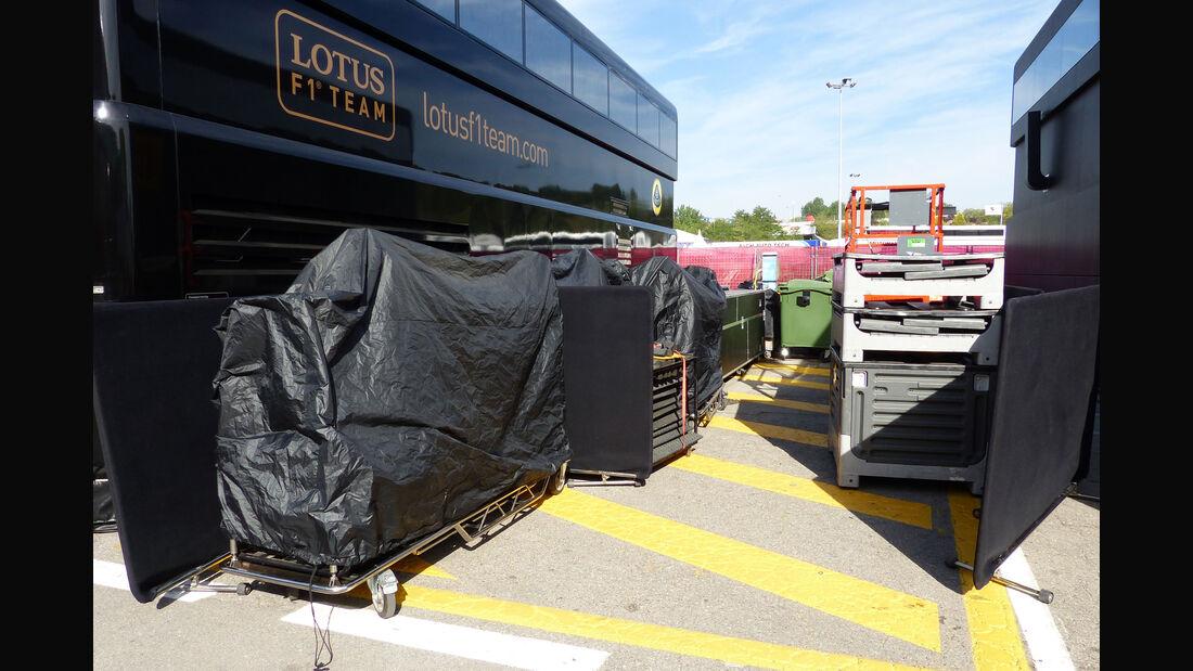 Lotus - Motorhome - GP Spanien 2015 - Barcelona