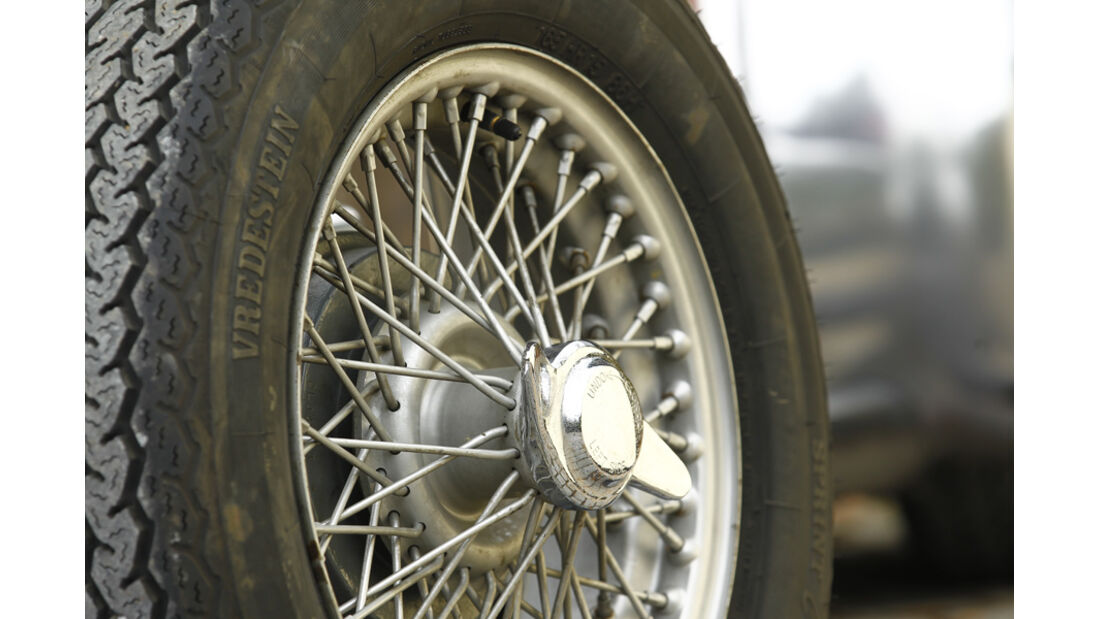 Lotus Seven S1, Rad, Reifen, Detail