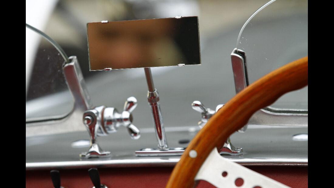 Lotus Seven S1, Rückspiegel, Detail