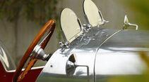 Lotus Seven S1, Windschutzscheiben, Lenkrad, Detail