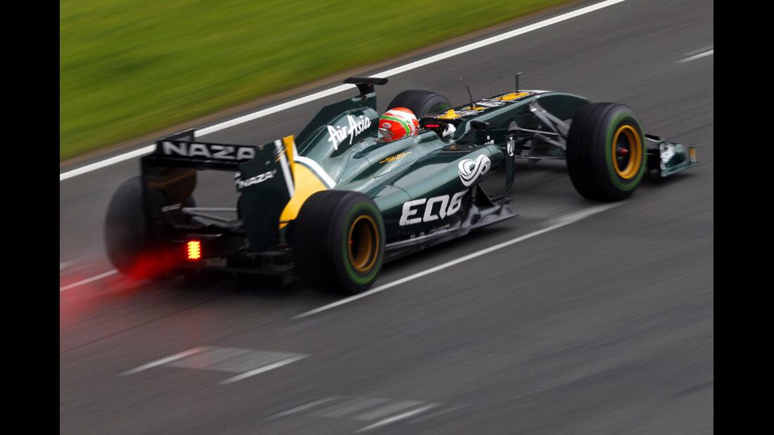 Lotus T128 Trulli Formel 1 Test Barcelona 2011