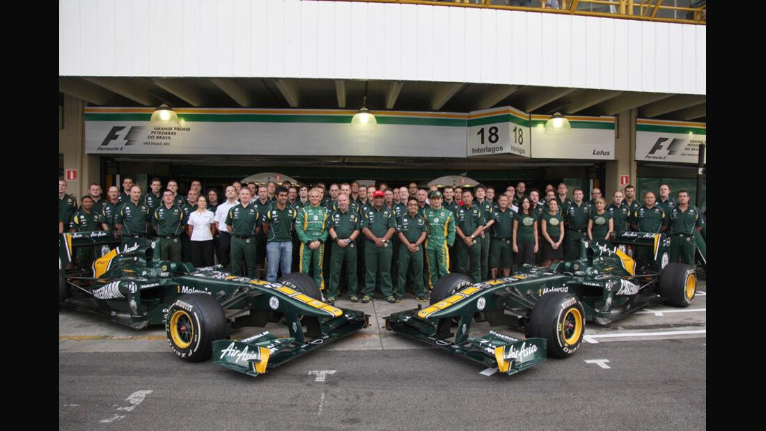 Lotus Teamfoto GP Brasilien 2011
