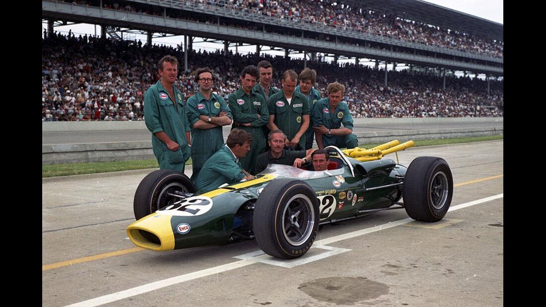 Lotus Type 38, der von Jim Clark im Indianapolis 500 Rennen 1965 gefahren wurde.