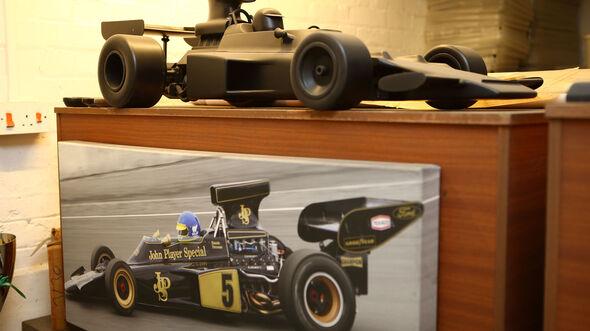 Lotus Windkanallmodell - Classic Team Lotus - Lotus Workshop - Werkstatt - Hethel - England