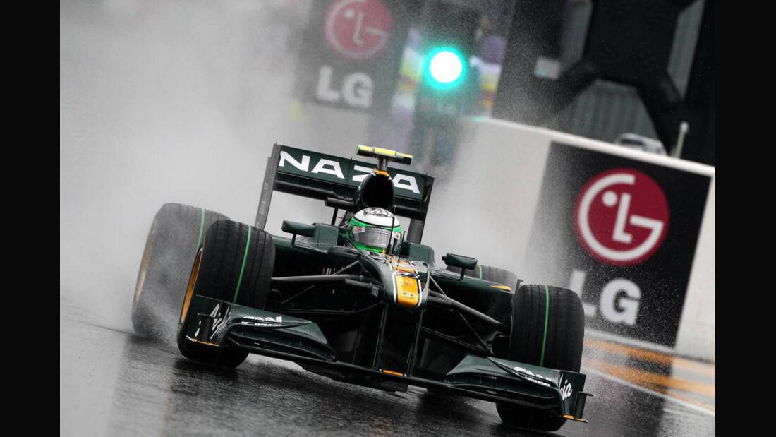 Lotus im Regen