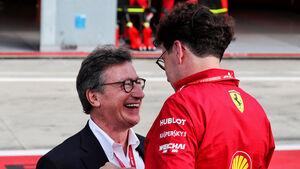 Louis Camilleri - Mattia Binotto - Ferrari