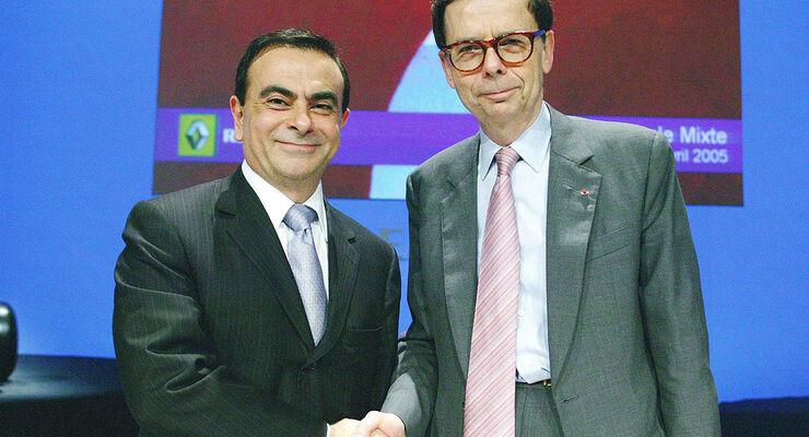 Louis Schweitzer und Carlos Ghosn