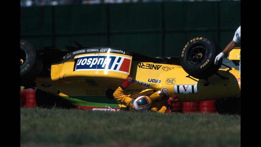 Luca Badoer - GP Argentinien 1996 - Crash