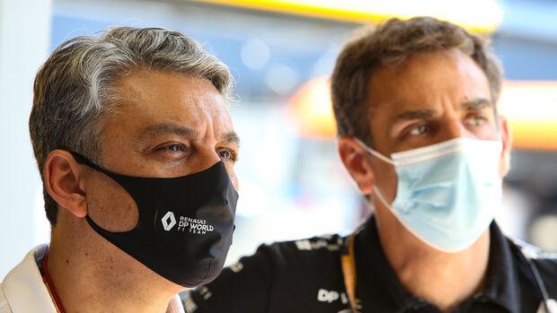Luca de Meo - Cyril Abiteboul - Renault - GP Spanien 2020