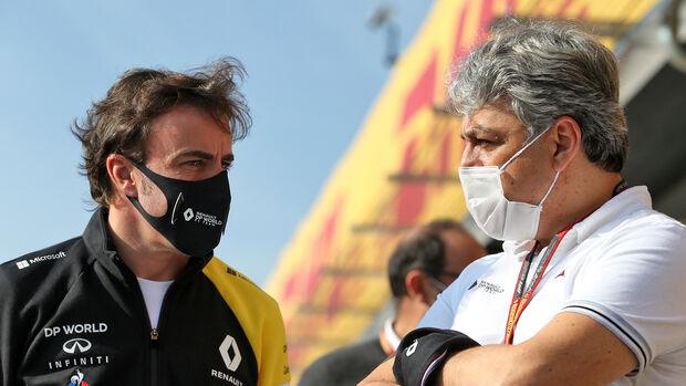 Luca de Meo & Fernando Alonso - Renault - Imola - 2020