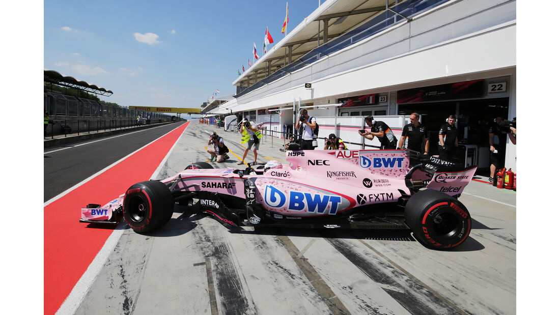 Lucas Auer - Force India - Formel 1 - Test - Ungarn - Budapest - 1. August 2017