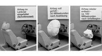 Luftsäcke als Gurtergänzung, 1979.