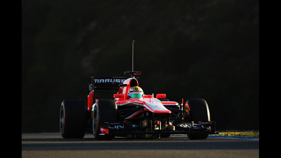 Luiz Razia, Marussia, Formel 1-Test, Jerez, 6.2.2013