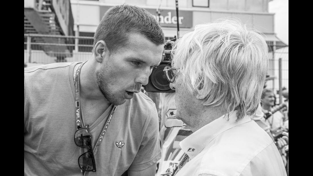 Lukas Podolski & Bernie Ecclestone - GP Deutschland 2014 - Danis Bilderkiste