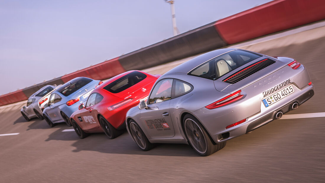 M4 Coupé, Chevrolet Corvette Stingray, Mercedes-AMG GT, Porsche 911 Carrera S