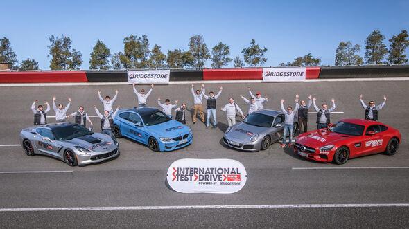 M4 Coupé, Chevrolet Corvette Stingray, Mercedes-AMG GT, Porsche 911 Carrera S