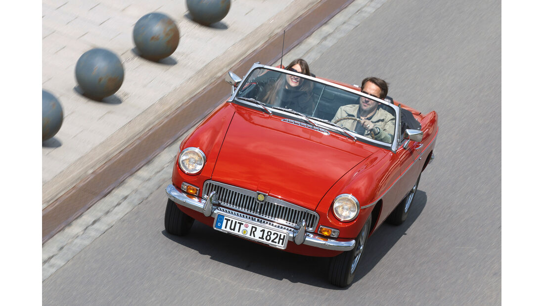 MG B Roadster, Frontansicht