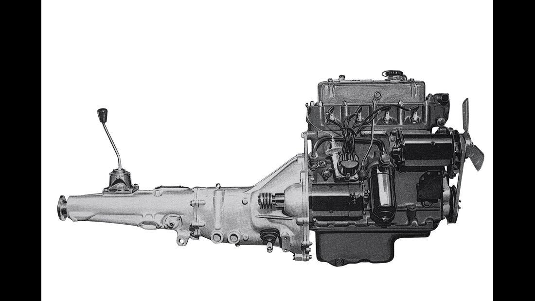 MG B, Vierzylinder-Aggregat