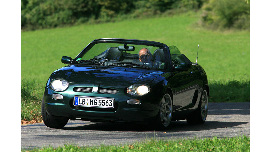 MG F Roadster, Frontansicht