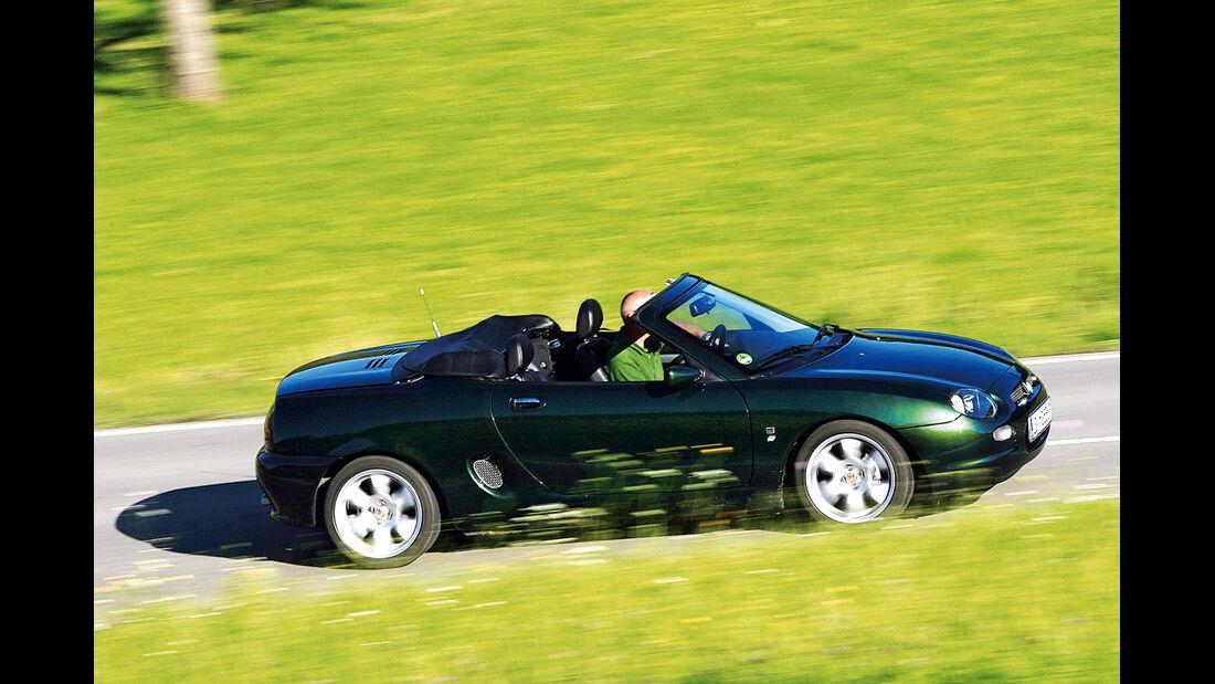 MG F Roadster, Seitenansicht