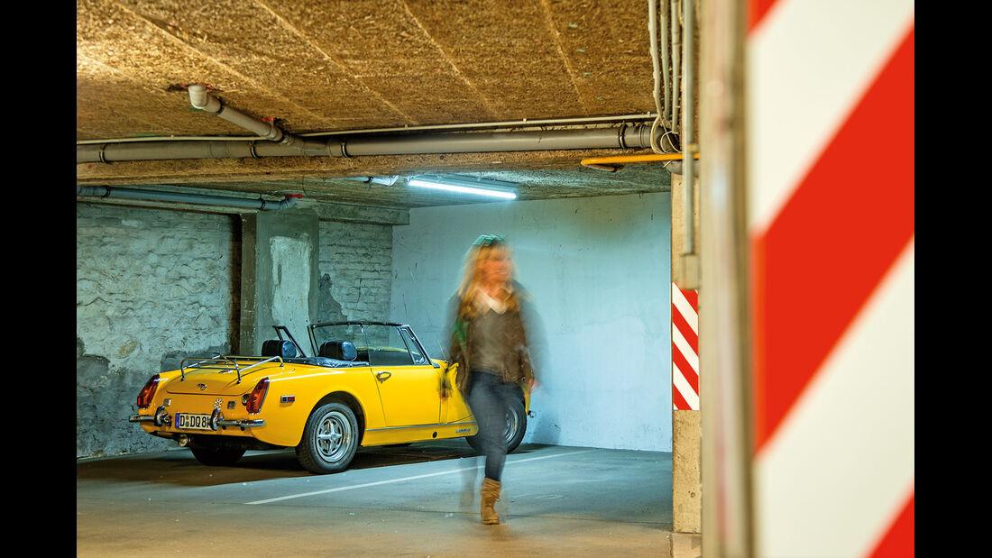 MG Midget Mark III, Parkhaus, Antje Fälscher