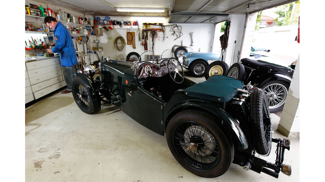 MG PA, Garage, Werkstatt