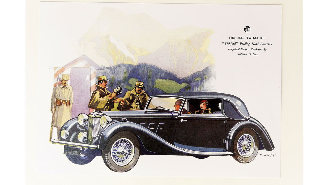 MG SA Tickford DHC, Werbeplakat