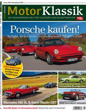 MKL Motor Klassik Heft 01/2018 Cover