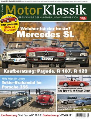 MKL Motor Klassik Heft 01/2019 Cover
