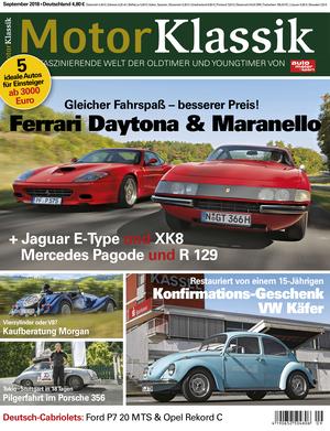 MKL Motor Klassik Heft 09/2018 Cover