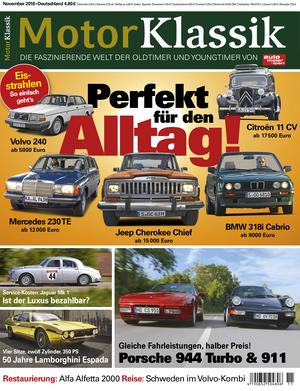 MKL Motor Klassik Heft 11/2018 Cover