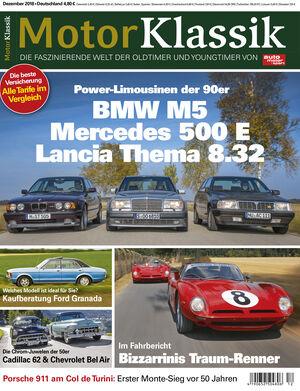 MKL Motor Klassik Heft 12/2018 Cover