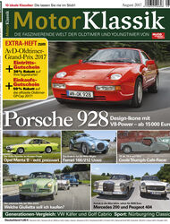 MKL Motor Klassik Heft 8 / 2017 Cover