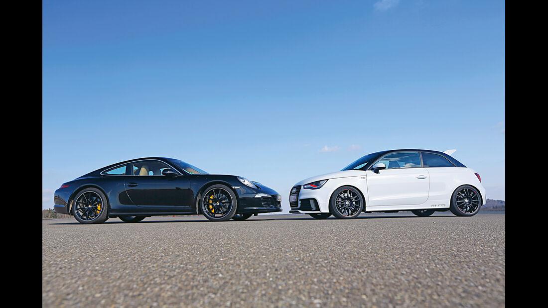 MTM-Audi A1 quattro, Porsche 911, Seitenansicht