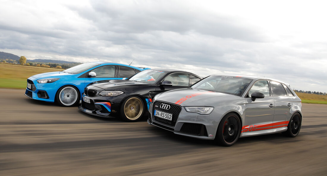 MTM-Audi RS 3 R, Laptime Performance-BMW M2, Wolf-Ford Focus RS