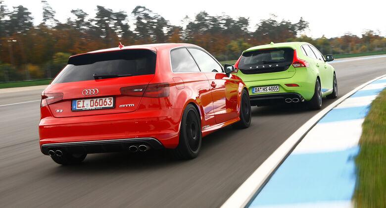 MTM-Audi S3, Heico-Volvo V40 T5 HPC, Kurvenfahrt