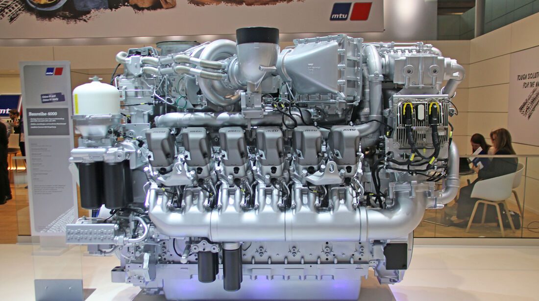 MTU Baureihe 4000 V12 Motor