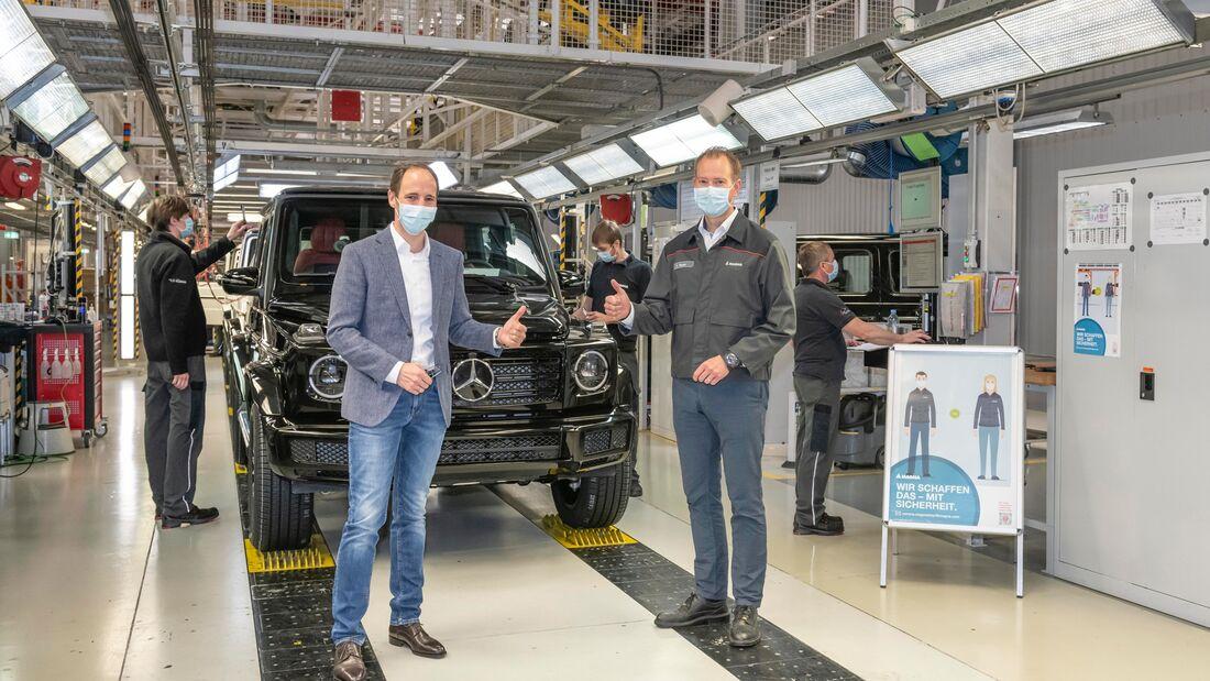 Magna Produktion Mercedes G Corona