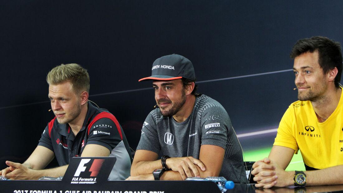 Magnussen - Alonso - Palmer - GP Bahrain - Sakhir - Donnerstag - 13.4.2017